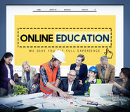 Online Education Studying E-Learning Technology Concept Stock Photography