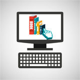 Online education technology e-book graphic Stock Photos