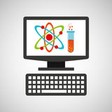 Online education technology physics and chemistry Stock Images