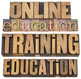 Online education and training Stock Images