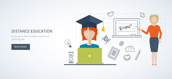 Online education and training Stock Photography