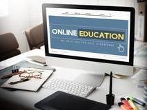 Online edukaci Homepage nauczania online technologii pojęcie Zdjęcie Royalty Free