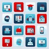 Online edukacj ikony ilustracji