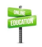 online edukacja drogowego znaka ilustracja Obraz Stock