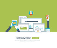Online edukacja i kursy Obraz Stock