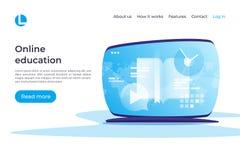 Online edukacja, nauczanie online, tutorials wektoru pojęcie _ royalty ilustracja