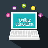 Online edukacja projekt Obrazy Royalty Free