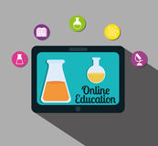 Online edukacja projekt Obraz Royalty Free