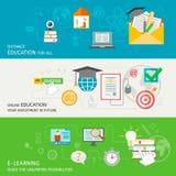 Online edukacja sztandar Obrazy Stock