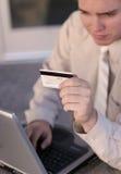 Online elektronische handel stock foto's