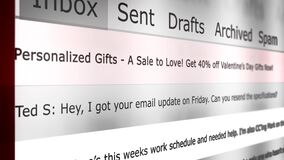 Online Email Interface Animation New Message Series - Annoying Holiday Spam Version