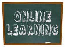 Online erlernend - Tafel Stockfotografie
