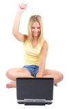 Online excitment Stock Image