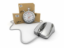 Online express delivery. Royalty Free Stock Photography