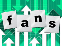 Online Fans Represents World Wide Web And Follower Stock Photo