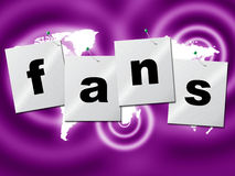 Online Fans Represents World Wide Web And Searching Royalty Free Stock Photography