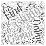Online Fashion Games What They are How to Find Them word cloud concept word cloud concept vector background Royalty Free Stock Image