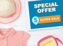 Online fashion store special offer super sale. Website Stock Photography