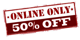 Online only fifty percent off Stock Images