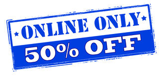 Online only fifty percent off Stock Photography