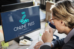 Online Files Streaming Computer Connection Concept Stock Photography