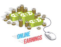 Online finance concept, web payments, internet earnings, online royalty free stock photo
