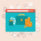 Online finance control app -  in flat style Stock Photography