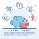 Financial technology infographic. Online financial technology infographic vector illustration graphic design Royalty Free Stock Image