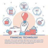Financial technology infographic. Online financial technology infographic vector illustration graphic design Stock Images