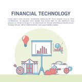 Financial technology infographic. Online financial technology infographic vector illustration graphic design Royalty Free Stock Photo