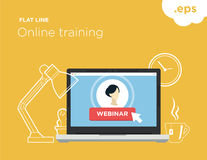 Online flat-line training Stock Photography