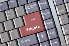 Online Flight Booking Stock Photography