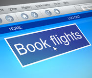 Online flight booking concept. Royalty Free Stock Image