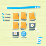 Online Folders Cloud Internet Data File Icon Stock Photo