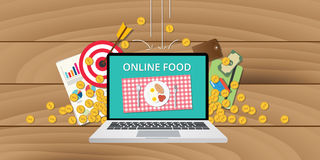 Online food business internet money gold growth Royalty Free Stock Photography
