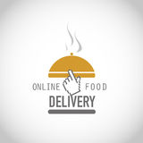 Online food delivery. Abstract background Stock Images