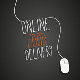 Online food. Delivery concept abstract background Stock Photo