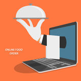 Online Food Delivery Concept Illustration. Royalty Free Stock Photo
