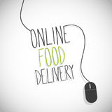 Online food delivery internet Stock Photos