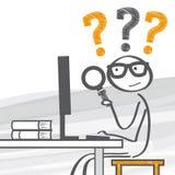 Online-forskning royaltyfri illustrationer