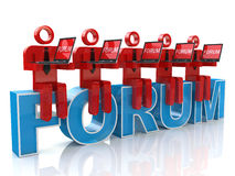 Online forum Royalty Free Stock Images