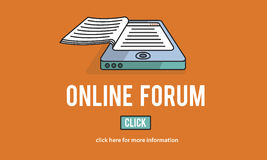Online Forum Discussion Assembly Information Concept Royalty Free Stock Image