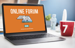 Online Forum Discussion Assembly Information Concept Stock Images