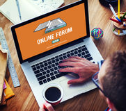 Online Forum Discussion Assembly Information Concept Royalty Free Stock Photo