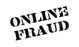 Online Fraud rubber stamp Royalty Free Stock Images