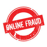 Online Fraud rubber stamp Stock Photography