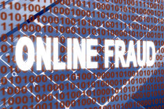 Online Fraud text over binary code Royalty Free Stock Photos
