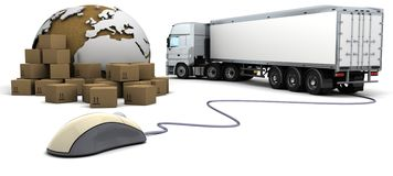 Online freight order tracking Royalty Free Stock Photos