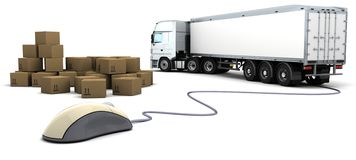 Online freight order tracking Royalty Free Stock Images