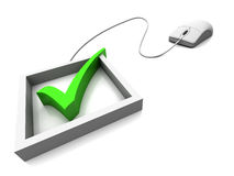 online głosowanie Zdjęcia Stock
